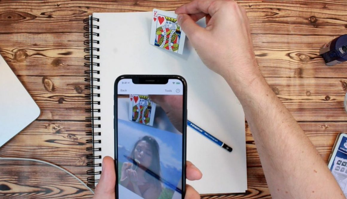 Augmented Reality Image Transfer App